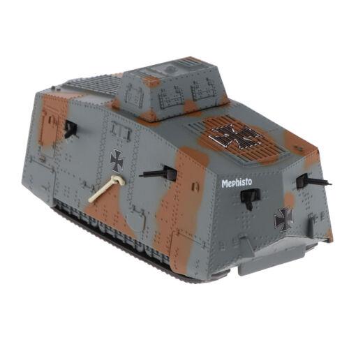 1/72 A7V Heavy Tank Panzer Armor Military Vehicle Diecast Model Toy Souvenir