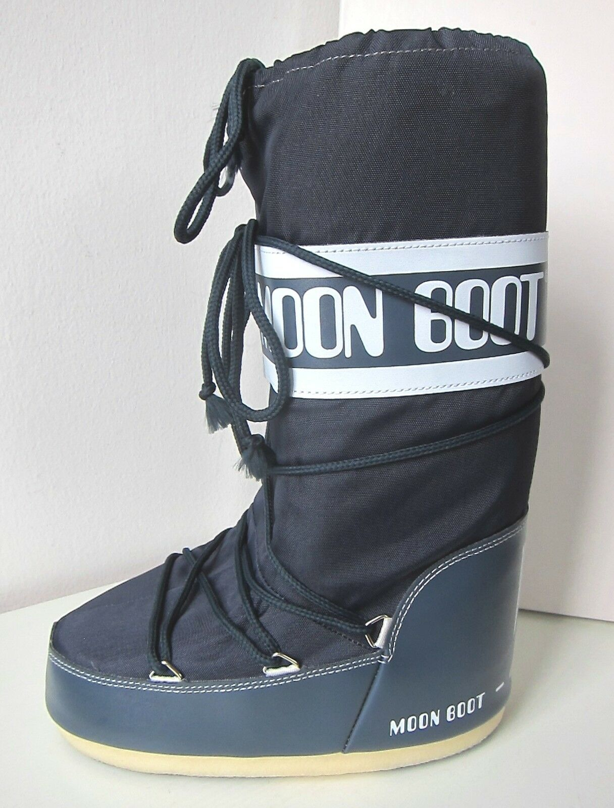 Tecnica Moon Boot Nylon JEANS BLU TG. 31 34 Moon Stivali Moonboots Denim Blue