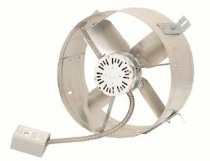 Attic exhaust ventilator fan ventilation fans roof attics - Bathroom exhaust fan with thermostat ...