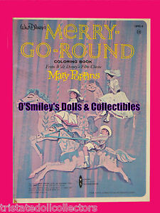 RARE Vintage 1964 MERRY-GO-ROUND MARY POPPINS COLORING BOOK_Disney ...