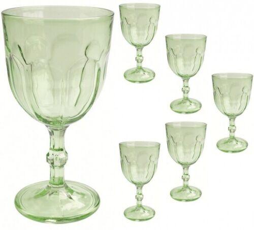 6 Retro Weinkelche 31cl grün Country Uiniversal Weinglas
