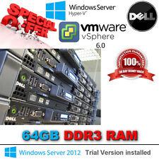 Dell PowerEdge R610 2x 6-Core XEON E5645 2.40Ghz 64GB DDR3 2x 146GB 15K RPM SAS