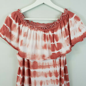 CHASER-Usa-Womens-Off-The-Shoulder-Tie-Dye-Top-New-Size-S-or-AU-10-US-6