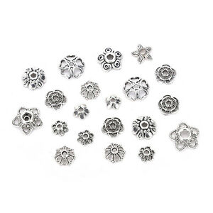 60g-250pcs-Antiqued-Silver-Hollow-Flower-End-Bead-Caps-For-Jewelry-Craft-Pop
