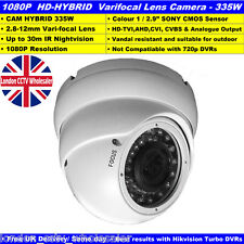 HD-TVI 1080P Sony CMOS Dome Camera 30M IR Indoor-Outdoor CCTV Verifocal 2.8-12MM