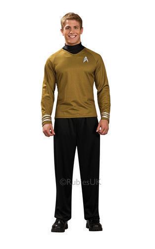Star Trek Shirt Adult Fancy Dress Scott Kirk Spock Sci Fi Mens Costume Outfit