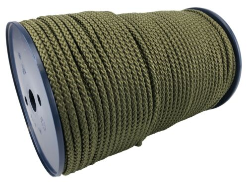 8 mm olive vert kaki en Polypropylène Corde Tressée Poly cordon Yacht Bateau à voile