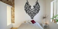 Wall Room Decor Art Vinyl Sticker Mural Decal Tribal Flame Bird Phoenix FI617