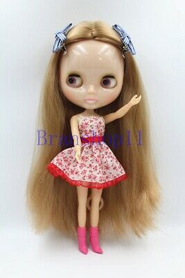 """New 12/"""" Neo Blythe Doll from factory Long creamy white hair  transparent skin"""
