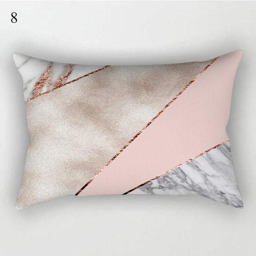 Rose Gold Pink Cushion Cover Waist Pillow Case 30cm*50cm Sofa Home Office Decor