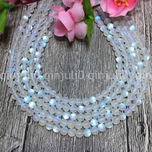 6mm-White-Gleamy-Rainbow-Moonstone-Round-Gems-DIY-Loose-Beads-15-039-039-JL414