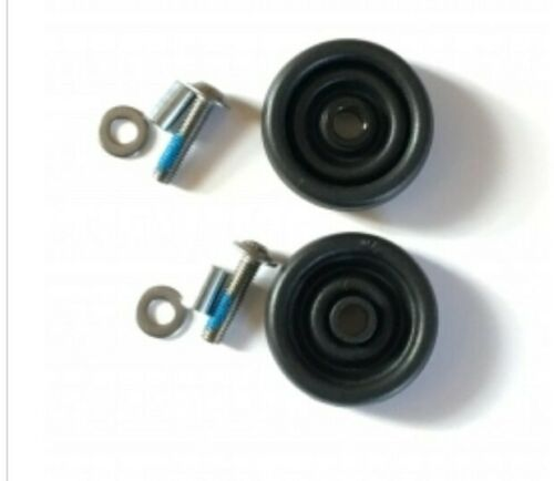 Brompton Model L E Pair of Rollers 45mm Diameter with 6mm Bolts fittings etc