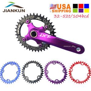 US-DECKAS-32-52T-104bcd-Narrow-Wide-Aluminum-Crankset-MTB-Bike-Crank-Chainring