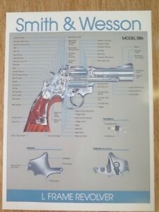 SMITH-amp-WESSON-MODEL-586-L-FRAME-REVOLVER-POSTER-NEW-GREAT-FOR-BAR-MANCAVE