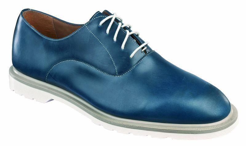 DR MARTENS 5 buchi BRONSON blu marino 14375410 ORIGINALE Doc