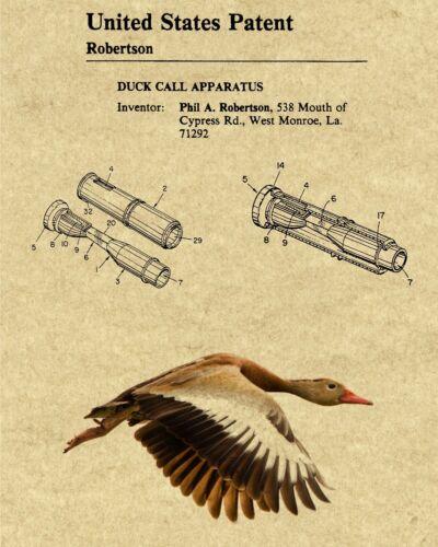 Duck Commander Duck Call Patent Art Print /& Mallard Duck Pic Choice of 4 BG/'s