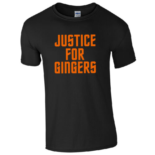Justice for Gingers T-Shirt Funny Ginge Hair Colour Joke Summer Gift Mens Top
