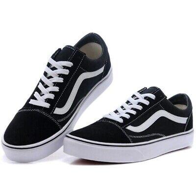 Van s Old Skool Skate Noir Original Chaussures Shoes Classic canvas suede Femmes   eBay