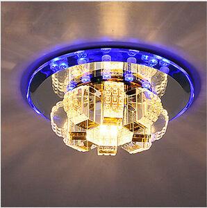 18cm 3W LED Cristal Lmparas de techo candelabros De colores Entrada