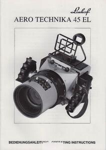 Linhof Bedienungsanleitung Aero Technika 45 El Deutsch/english Ausgabe 1993
