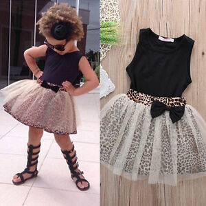 Image Is Loading Baby Girls Toddler Top Tutu Skirt Outfit Kids
