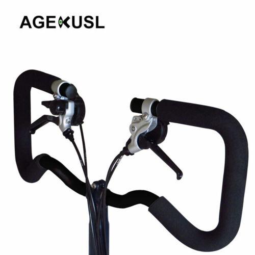 AGEKUSL Bike P Handlebar For Brompton Bicycle Type Stem Cruiser Bar 22.2//25.4mm