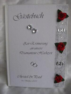 Gastebuch Diamanten Hochzeit Diamantene Hochzeit Diamant Geschenk Deko Ebay