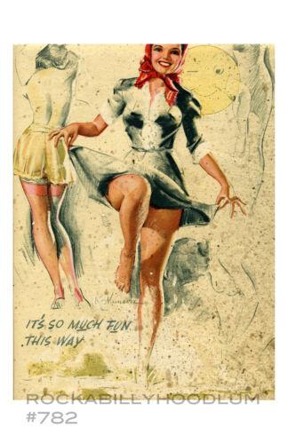 Pin Up Girl Poster 11x17 Artist Sketch Illustration Legs Lingerie Cute Retro