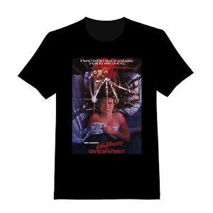 A Nightmare On Elm Street Horror Movie Black Colour Large Size Short Sleeve Tshirt