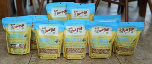 (9 Bags) Bob's Red Mill Lemon Blueberry Granola, Gluten Free, 11oz, Exp 06/2021+