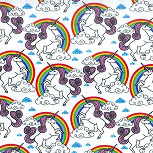 ROSE /& HUBBLE PINK FLYING UNICORNS 100/% COTTON POPLIN FABRIC SOLD BY METRE
