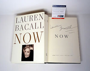 Lauren-Bacall-Signed-Autograph-Now-1st-Edition-Book-PSA-DNA-COA