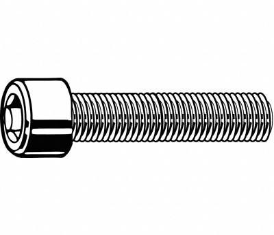 Unbrako Fully Threaded 6-32 UNC Thread 1//2 Long Black Oxide Flat Socket Head Cap Screw Alloy Steel Pack of 100