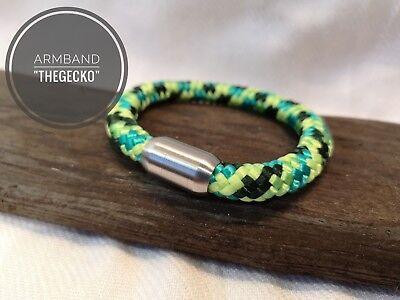 "Segeltau Armband ""the Gecko"" 8mm Edelstahl Magnetverschluß Uhren & Schmuck Armbänder"