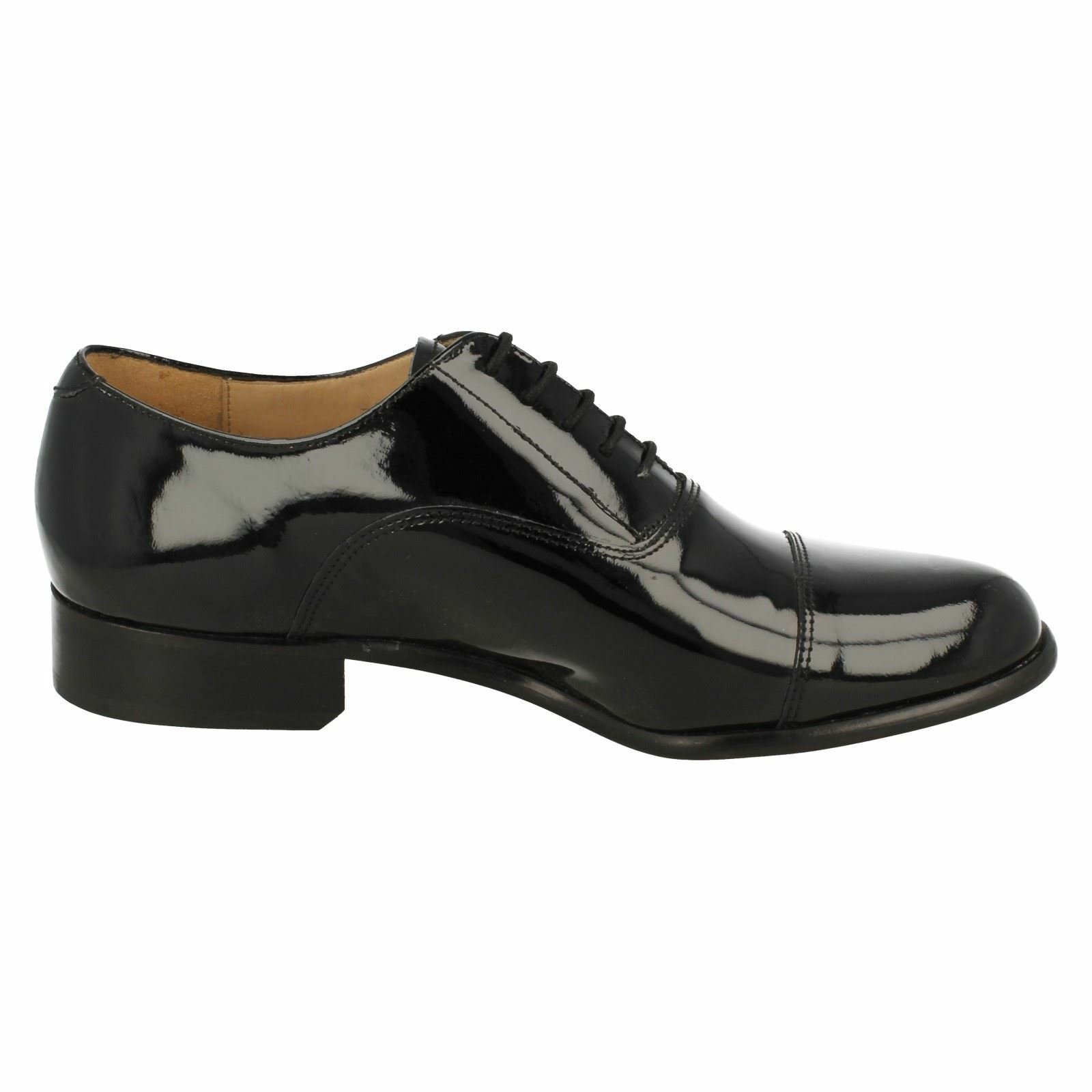 Mens PADDINGTON  black leather Grenson patent lace-up Grenson leather d53225