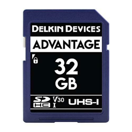2x Delkin Advantage 32gb SD UHS-I Memory Card 100MB//s   QDR13