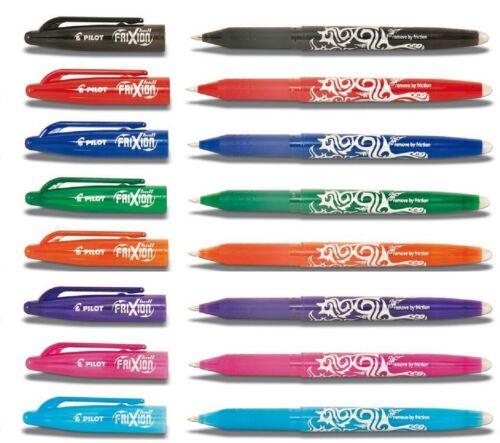 Pilot Black Frixion Clicker Retractable Fine Rollerball Erasable Pens Pen  0.7mm Nib Tip 0.35mm
