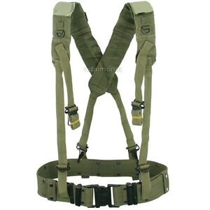 Military Army Style LC2 X Back Suspenders Utility Web Belt OD ...
