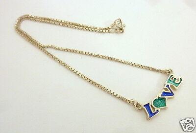 Kurze Venezianer Kette Collier Love 925er Silberkette Kinderschmuck Bequem Und Einfach Zu Tragen