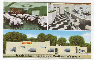 Details About Fedele S Italian Restaurant Madison Wisconsin Postcard