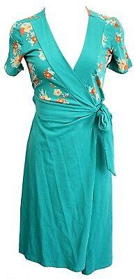 Blutsgeschwister Kleid Vintage Valley XS S M L XL türkis Wickelkleid boho V559
