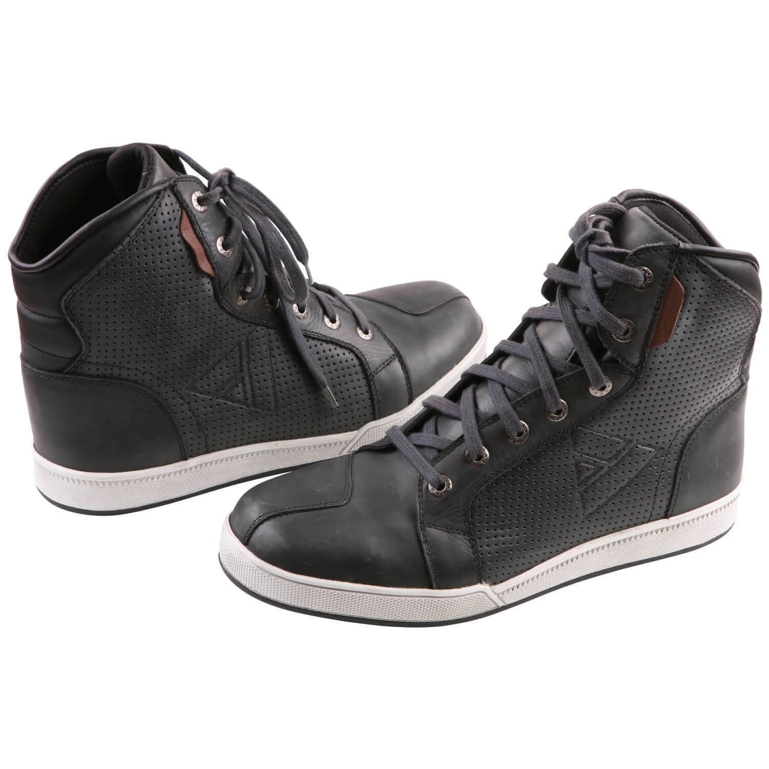 Modeka Midtown Men's Trainers Motorcycle Boots Leather - Grey