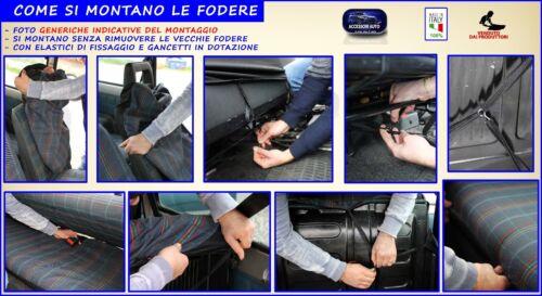 Per Fiat Panda Sisley Coprisedili con tappetini in gomma auto kit fodere sedili