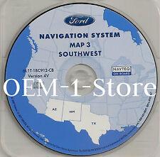 2003 LINCOLN NAVIGATOR NAVIGATION MAP DISC CD 3 SW SOUTHWEST AZ NM TX VERSION 4V