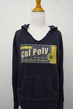 California Polytechnic State University Baseball navy hoodie sz M womens#6623