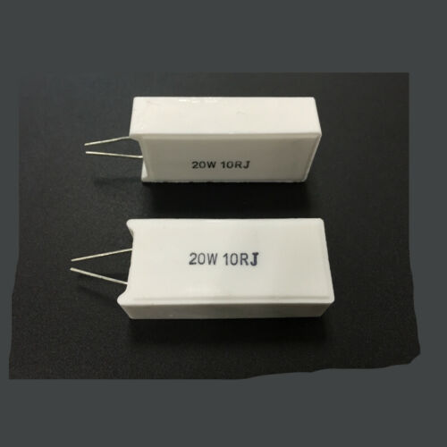2Pcs SQM RX27-5 Vertical Cement Resistor 20W 1.5//3//5//10//15//20//50//1KR Ohm Ceramic