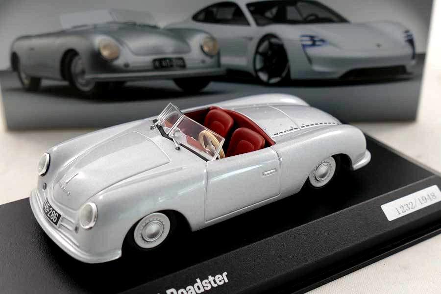 Wonderful modelcar PORSCHE 356 Roadster No.1 1948  70 YEARS PORSCHE  - 1 43 -lim