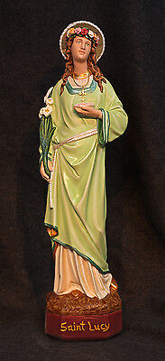 "St. Lucy 18"" Patron Saint for Eyes Catholic Christian Religious Plaster Statue"