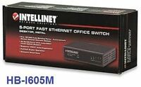 Intellinet 5-port Ethernet 10/100 Network Switch, Metal