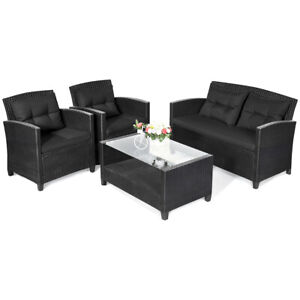 4-Piece-Patio-Rattan-Wicker-Conversation-Furniture-Set-Soft-Cushion-Chairs-Table